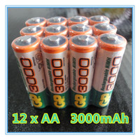 aa batteries mah - 12pcs Brand New riginal GP V NiMh AA mAh Battery Rechargeable AA Batteries pilas recargables freeshipping