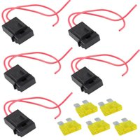 Wholesale 5 Packs A Fuse Holder Gauge ATC In line AWG Wire Copper Power Blade V B00121 SPDH