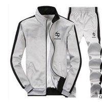 Wholesale Men Sportswear Hoodie And Sweatshirts Autumn Winter Jogger Sporting Suit Mens Sweat Suits Brand Mens Tracksuits Set Jacket Pants