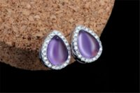 Wholesale Christmas Gift Sterling Silver Jewelry Romantic Nature Ross Quartz Water Earrings Fine jewelry Top Quality