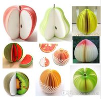Wholesale Vegetable Fruit D Memo Notepad Post It Pads DIY Note Stationery Party Gift Good Quality Brand New Hot Sales