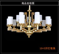 best glass painting - Chinese style Copper like depolished Glass Pendant Lamps Remote Switch Modern Led Flush Mount Best Selling Chandlier Anti oxide paint