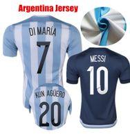 argentina away kit - Argentina Soccer Jerseys Messi Di Maria Kun Aguero Mascherano Perez Gago Argentina Jerseys Home Away Football Jersey Kits