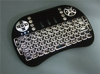 Wholesale Rii I8 Fly Air Mouse Mini Wireless Keyboard GHz Touchpad Kyeboard with backlight Remote Control