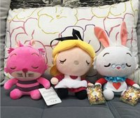 alice hot toys - 9pcs Retail Alice in Wonderland Hot Toys For Children Gifts Cartoon Anime Alice Cheshire Cat White Rabbit Stuffed Dolls Sweet Cute Toy