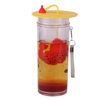 Wholesale Fish Design Silicone Tea Infuser Food Grade Silicone Tea Strainer With Cup Cap Multifunctional Little Fish Bag
