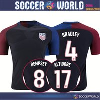 Wholesale New USA soccer jersey USA away players version jersey BRADLEY DEMPSEY ALTIDORE BECKERMAN DISKERUD CAMERON shirts