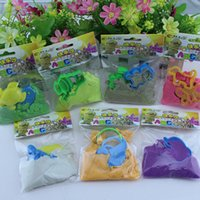 Wholesale DHL Happy sand DIY sand Magic Sand sand without Mess educational toys Play Green colored sand