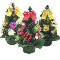 artificial indoor tree - mini cm pvc festival party artificial colorful decorations Xmas tree three color christmas trees Christmas Decorations