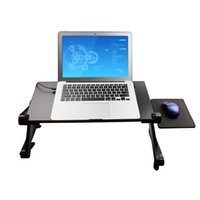 computer desk table - Adjustable Height Stand Up Lap Top Desk Table Portable Computer TV Tray Vented Adjustable Computer Desk