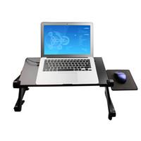 al por mayor soporte de mesa portátil-Ajustable de altura Stand Up Lap Top mesa de escritorio Portable Computer TV Bandeja Vented mesa ajustable de la computadora
