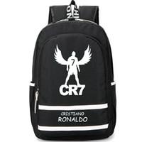 best footballers - Fly Cristiano Ronaldo backpack CR7 Football Club school bag Footballer soccer star rucksack Cool day pack Best daypack