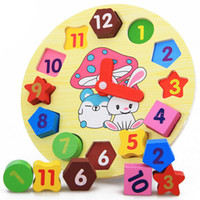 Wholesale Brand New Multicolor Educational wooden toys clock kit number and color toy for children pc
