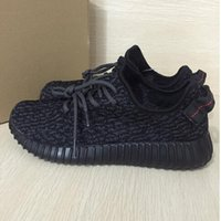 Wholesale size36 Top Quality Kanye Milan West Boost Classic Black Gray Men s Women Fashion Trainers Shoes Sports Shoes