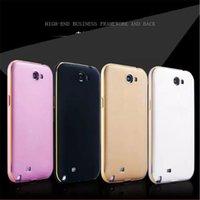 aluminum lighting frames - Stylish Light Weight Phone Covers for iPhone Aluminum Frame Bumper Hard Back Plastic Phone Cases for Samsung