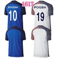 france - New France Europe cup Jersey BENZEMA home away POGBA GIROUD RIBERY NASRI thai quality France football shirt soccer jersey