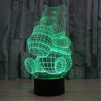 bear touch lamp - 3D Colorful Cartoon Bear LED Lamp Home Decoration Night Light Children s Bedroom Lighting Desk Review D TD39