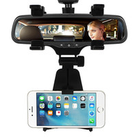 auto mirror holder - Car Mount Car Rearview Mirror Mount Truck Auto Bracket Holder Cradle for iPhone s plus Samsung GPS PDA MP3 MP4 devices