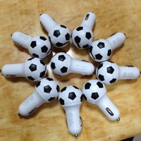au football - 2016 New Design V A World Cup Soccer Football Car Charger Adapter for iPhone Plus Samsung Galaxy S7 S6 Note etc