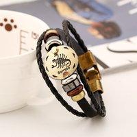 Wholesale Infinity Bracelets Fashion Jewelry Leather Bracelet Charm Constellation High Quality Party Birthday Jewelry