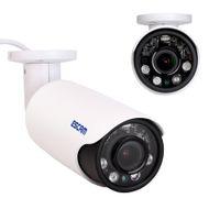 Wholesale ESCAM MP H P Vari foca Network CMOS Vari foca Lens Waterproof IR Cut Bullet Outdoor Security PoE IP Camera Motion detection