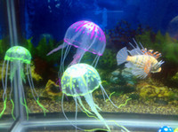 Wholesale 6 Optional cm cm Artificial Glowing Jellyfish with Sucker Fish Tank Aquarium Decoration Aquarium Ornaments Accessories