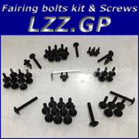 Wholesale Fairing bolts kit screws for HONDA CBR900 CBR900RR CBR954 RR Fairing screw bolts Black silver