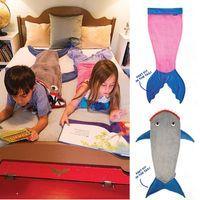 Cheap 2016 children Baby Kids Mermaid Tail Wrap Soft Fleece Blanket Bed snuggle-in Sleeping Bag Cocoon Costume pajamas