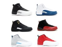 athletic leather footwear - Cheap Retro XII wolf grey mens basketball Shoes s Basket footwear outdoor sports women athletic trainers gym red french blue