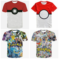 animal pictures shorts - New Newest fashion Cartoon D Picture Poke t shirts Tee men women short sleeve E1192