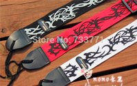 Wholesale IB Adjustable Buckle Guitar Strap Flame Print cm widening electric guitar electric bass strap