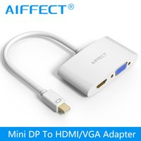 apple imac support - AIFFECT in Mini DP to HDMI VGA Adapter Cable Compatible with Thunderbolt for Apple MacBook iMac and more support K Ultra HD