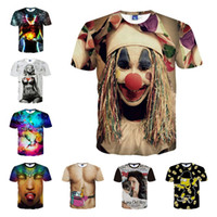 Wholesale Newest Style Cute Clown Print D T Shirt Men Women Harajuku Swag Funny T Shirts Summer Casual Tee Tops Camisetas