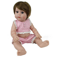 real doll - 18 quot Full Silicone Real Lifelike Baby Doll Reborn Fat Infant Girl Alive Doll Women Nursery Collects