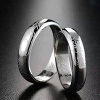 Wholesale 2016 Band Brushed Men Wedding Ring Solid fashion ring glossy L stainless steel ring for women men Valentine s Day