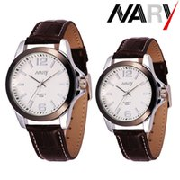 automatic hot water - NARY New Hot Sale High quality Couples Luminous Watch Automatic Quartz Stainless Steel Watch Luxury Wristwatch