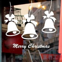bell charts - The bell wall carved window glass cabinet Christmas New Year decoration stickers Merry Christmas