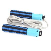 Wholesale Automatic Jump Counter Adjustable Skipping Rope Jumping Exercise Fitness Training Gym Sports Foam Sponge Handle Colors