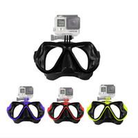 Wholesale 2016 New Design Gopro Scuba Dive Mask Dive Scuba Diving Mask Mount Snorkel Mask For GoPro Hero Sj4000 SJ6000 Xiaomi yi