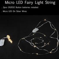 arrangement for strings - 2M LEDs CR2032 Button Batteries Installed Micro LED Fairy Light String for Christmas Flower Arrangements