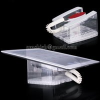 Wholesale 10pcs Acrylic security Ipad display stand holder tablet anti theft mount transparent samsung rack for retail shop with retractable pull box