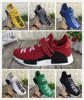 Wholesale with original box NMD Human Race Runner Boost Pharrell s Runners and Trainers Boost Running Shoes Williams Pharrell men women Casual Shoes