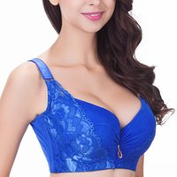 Wholesale Sexy women bra plus size D E cup push up bra brassiere side adjustment underwear