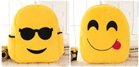 Wholesale Lovely Emoji QQ Expression Smiley Kids Baby Boy Girl School Bags Children Backpack Hottest Style For Christmas Birthday Gifts