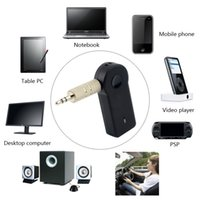Wholesale Universal mm Wireless Bluetooth Music Receiver Audio Stereo HiFi Adapter Car AUX Home Speaker with Mic For Phone MP3 PC NEW