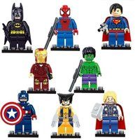 action figures dc - The Avengers Marvel DC Super Heroes Series Action Mini figures Building Block Toys New Kids Gift Compatible Iron Man Hulk Batman Thor model