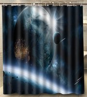 asteroid size - Planets Asteroids Speed Impact Polyester Big Size x180cm Square Custom Shower Curtain Bath Curtain