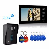 Wholesale Super waterproof HD Wireless G quot Video Door Phone Intercom System RFID Keypad Code Number Doorbell One Camera One Monitor