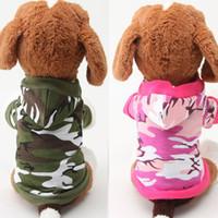 Nuevos alimentos para mascotas capa de camuflaje de Camo de la moda ropa para perros de primavera verano del animal doméstico de algodón caliente de dos piernas