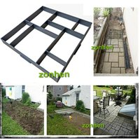 Wholesale New cm Europe type style DIY garden paving plastic mold Pathmate European garden paving mould